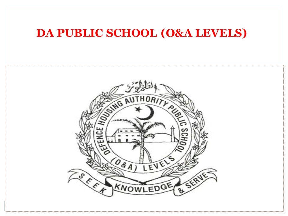 DA PUBLIC SCHOOL (O&A LEVELS)