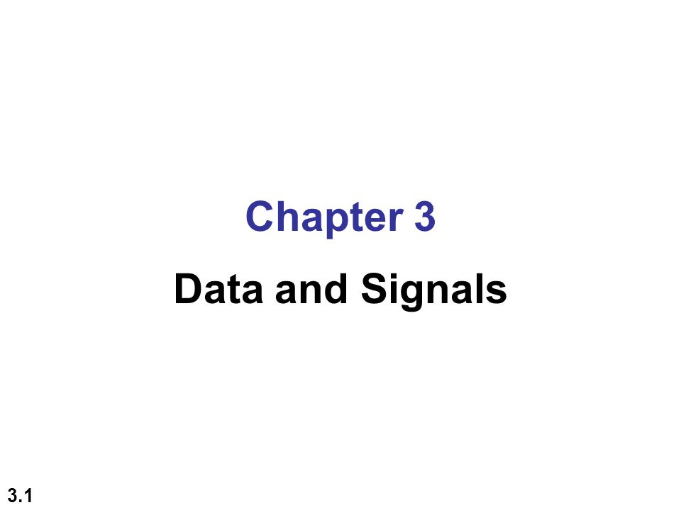 3.2 3-1 ANALOG AND DIGITAL To be transmitted, data must be transformed to electromagnetic signals.