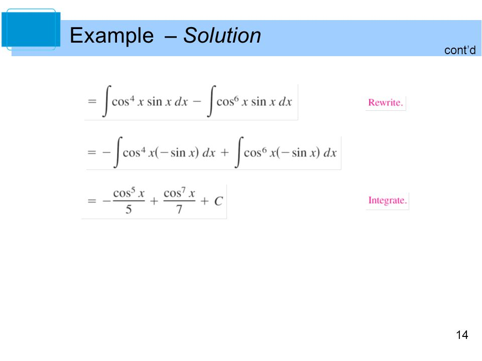 14 Example – Solution cont'd