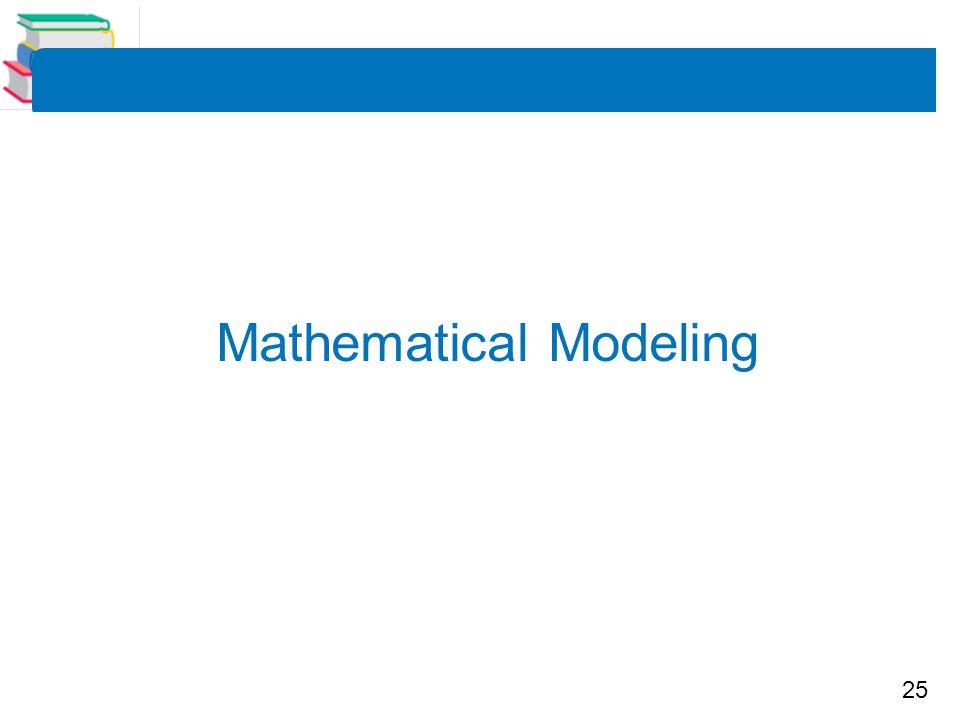 25 Mathematical Modeling