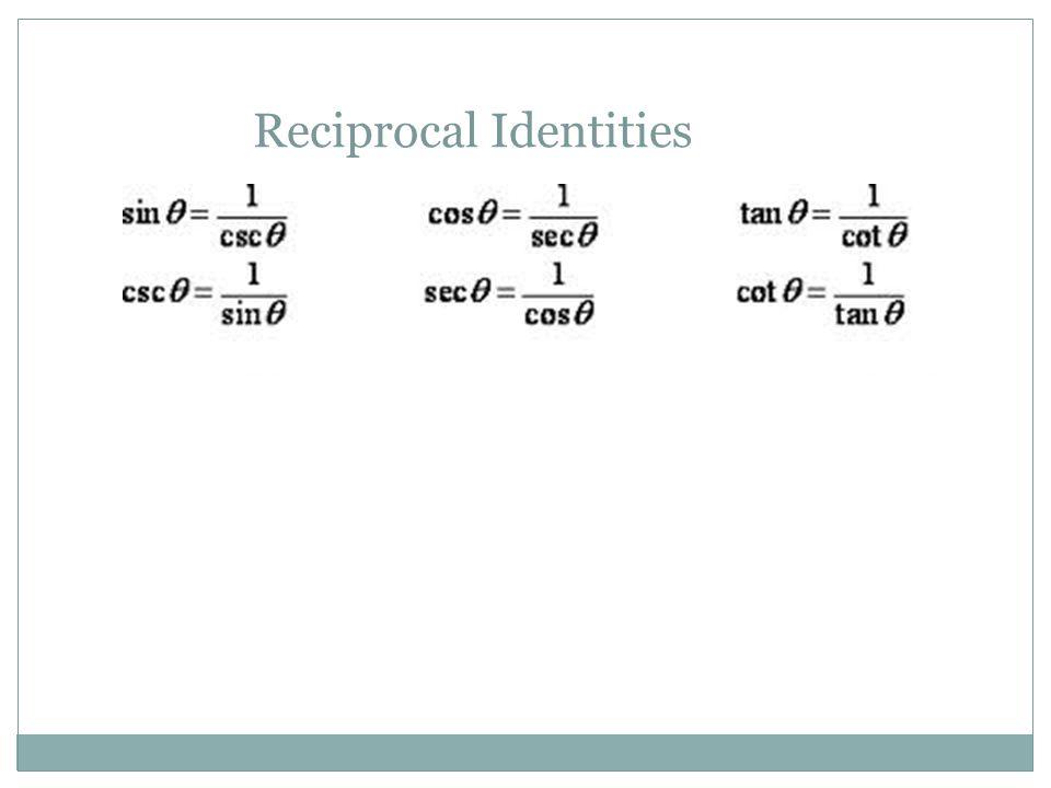 Reciprocal Identities