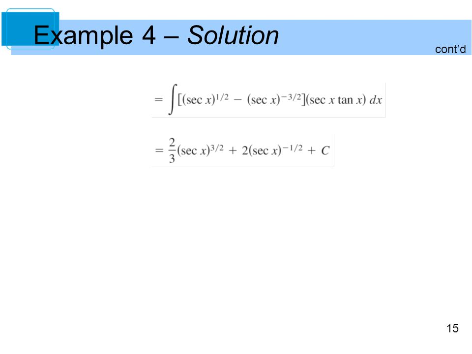 15 Example 4 – Solution cont'd