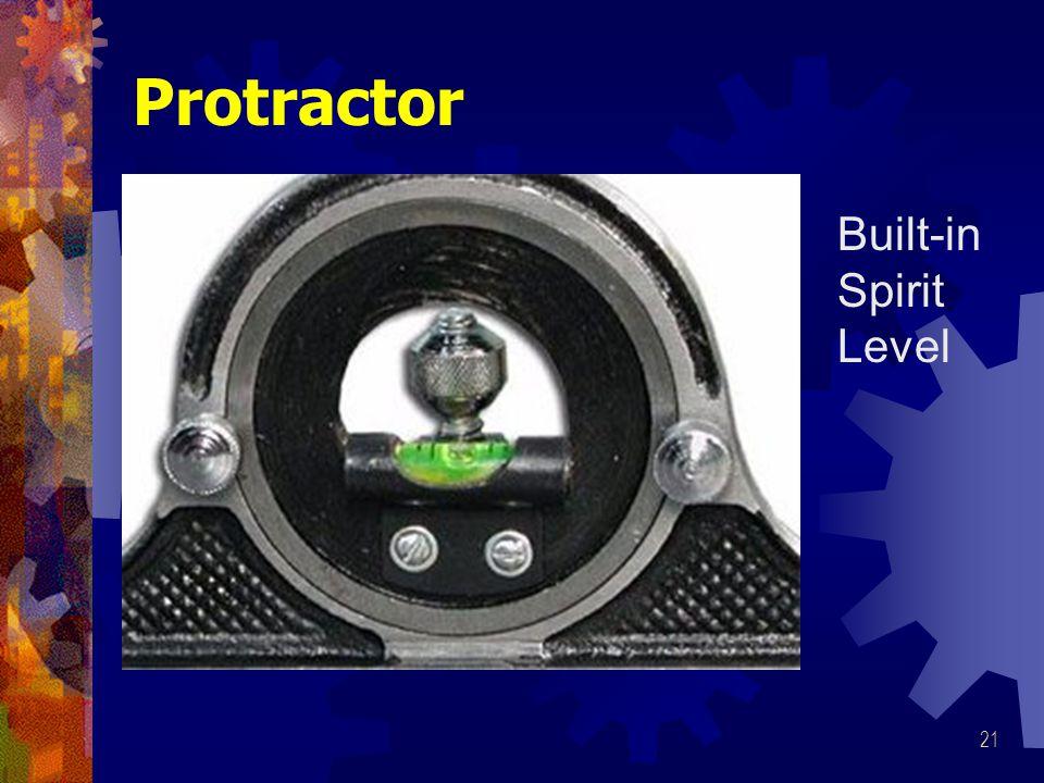 21 Protractor Built-in Spirit Level