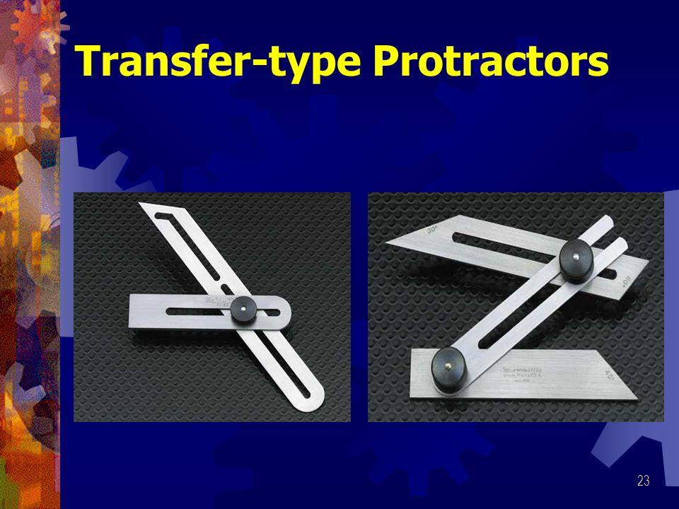 23 Transfer-type Protractors