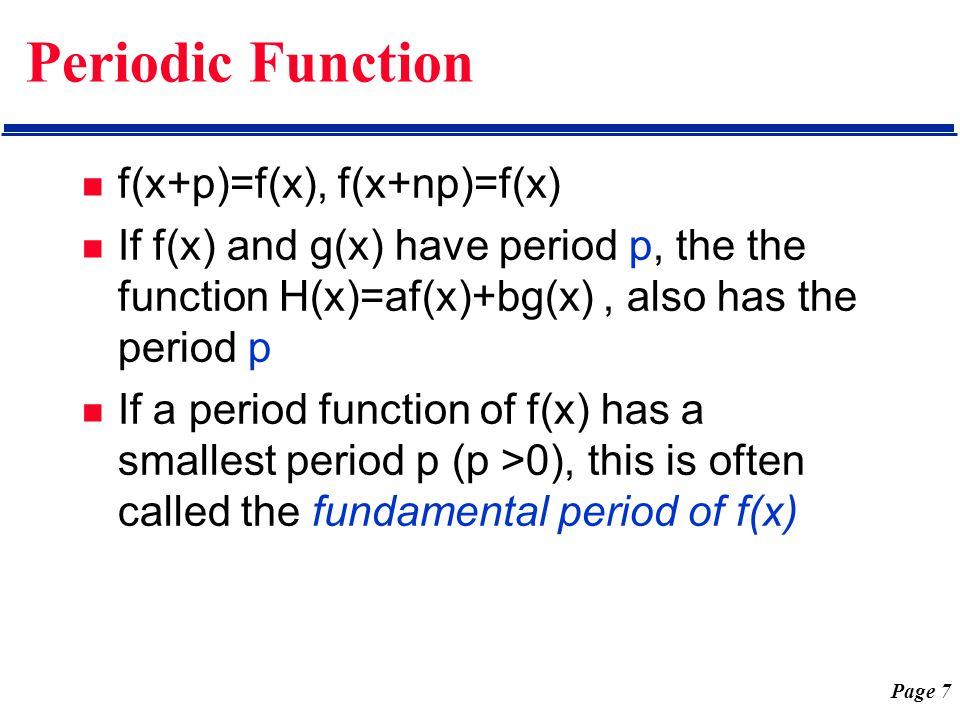 Page 18 Periodic Square Wave