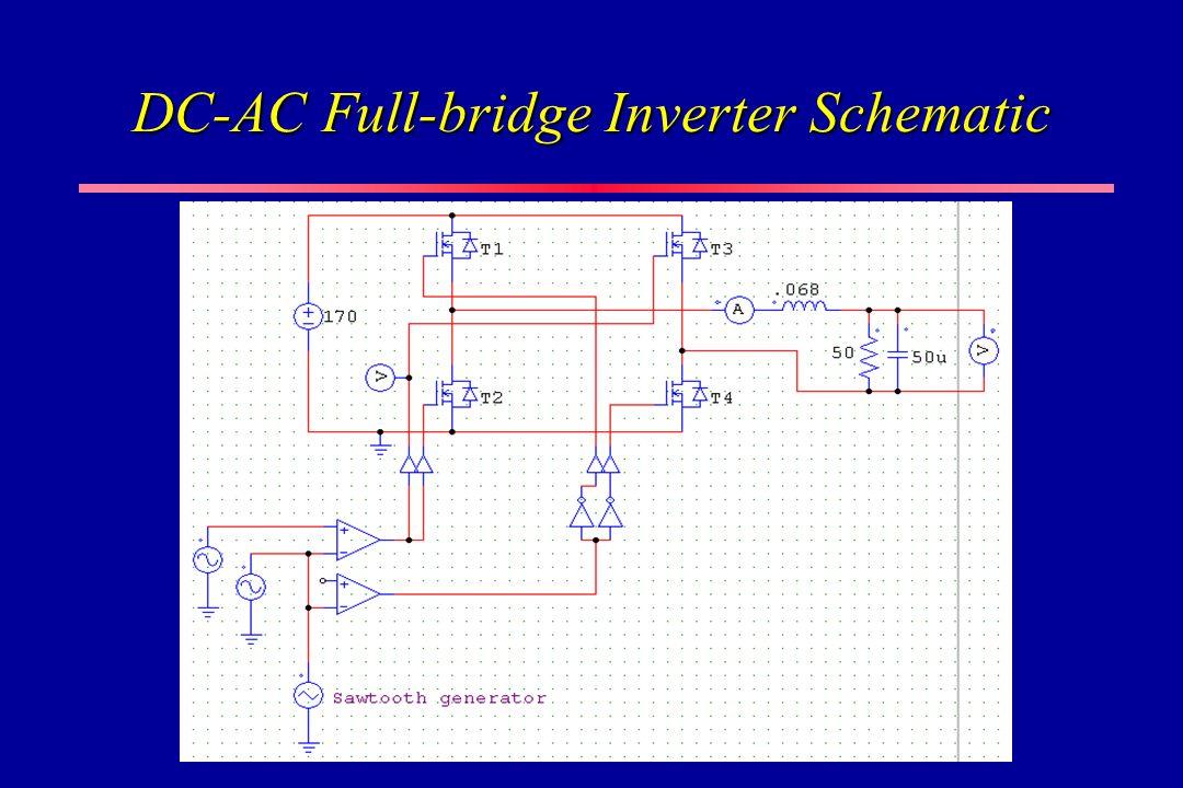 DC-AC Full-bridge Inverter Schematic