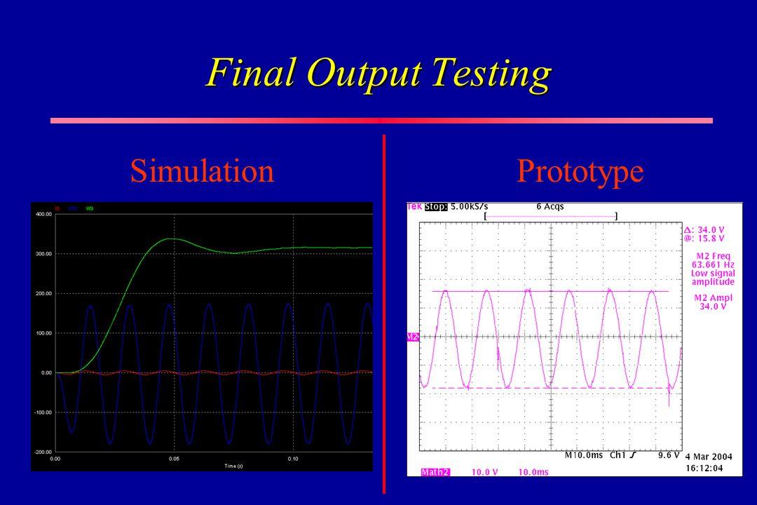 Final Output Testing SimulationPrototype