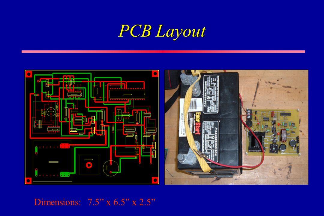 PCB Layout Dimensions: 7.5 x 6.5 x 2.5