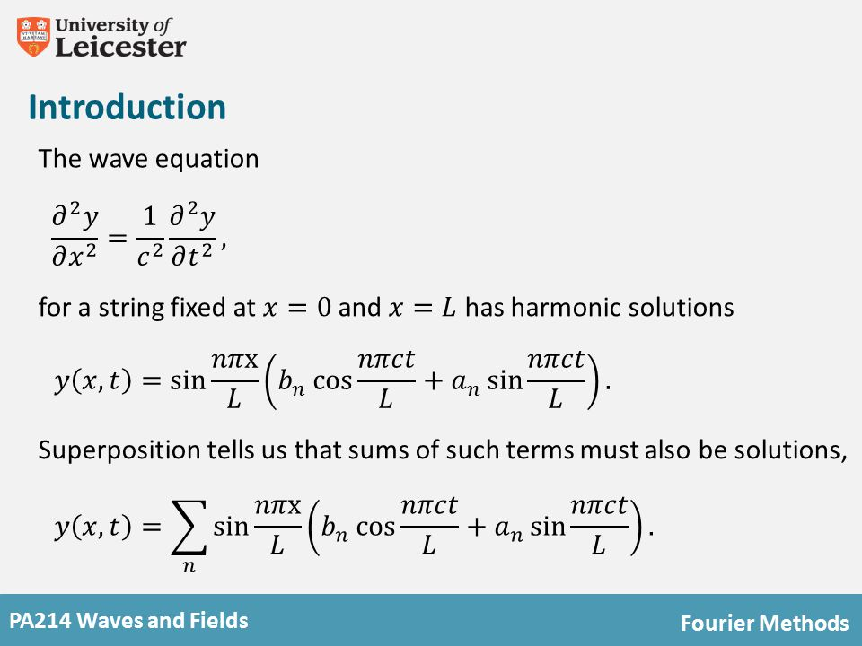 PA214 Waves and Fields Fourier Methods