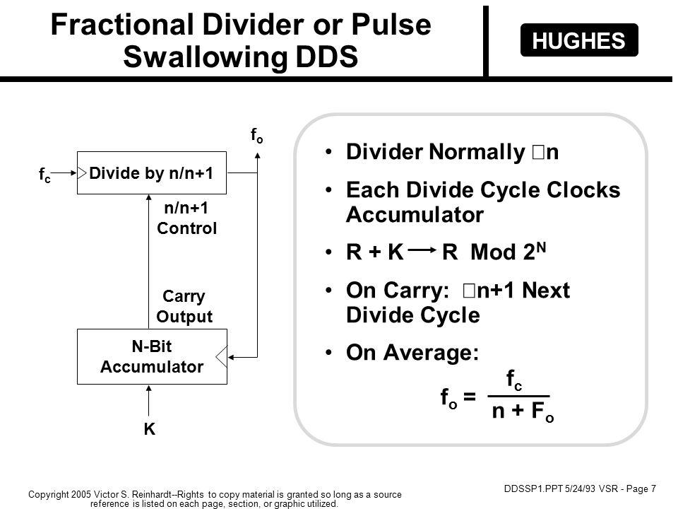 HUGHES DDSSP1.PPT 5/24/93 VSR - Page 7 Copyright 2005 Victor S.
