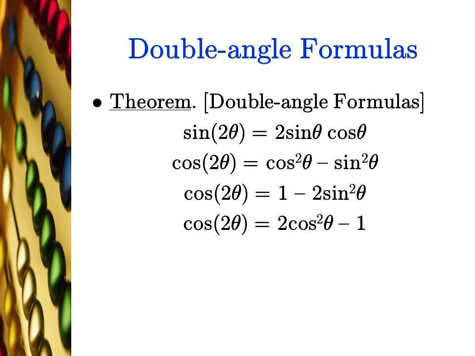 Double-angle Formulas Theorem.