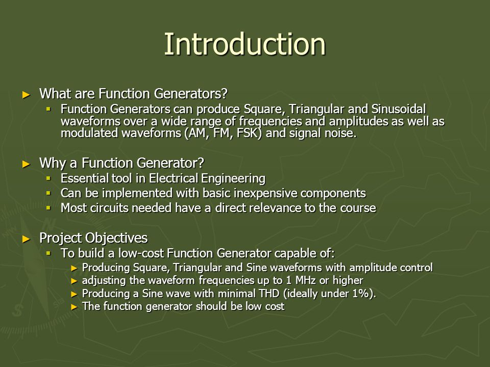 Introduction ► What are Function Generators.