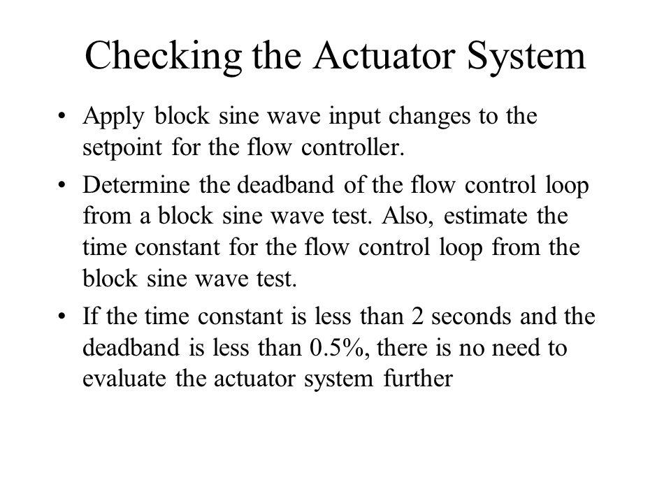 Block Sine Wave Test