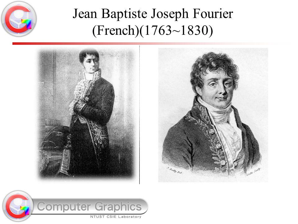 Jean Baptiste Joseph Fourier (French)(1763~1830)