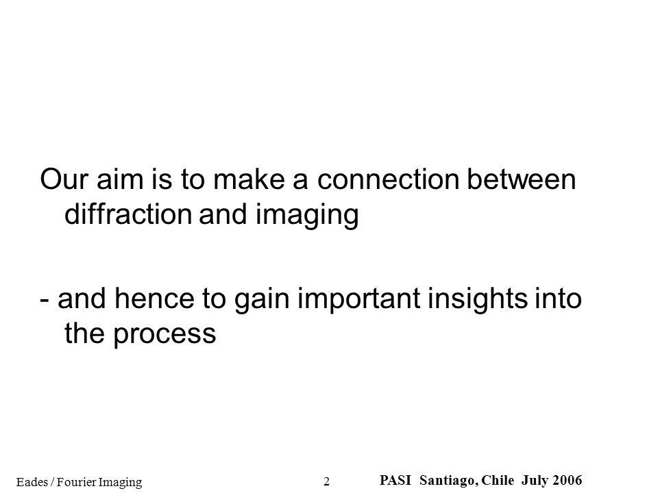 Eades / Fourier Imaging PASI Santiago, Chile July 2006 13 Bradley Carroll