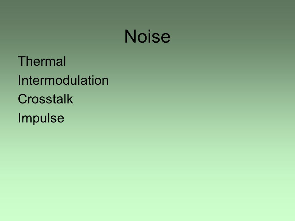 Noise Thermal Intermodulation Crosstalk Impulse