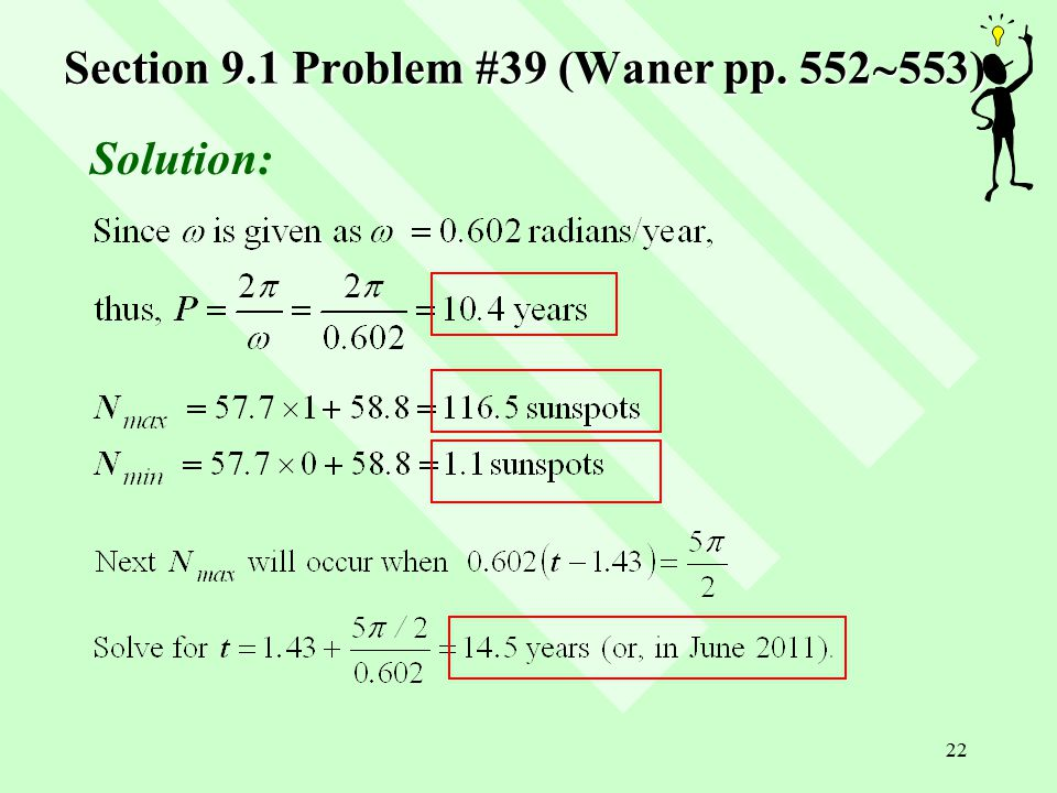 22 Section 9.1 Problem #39 (Waner pp. 552  553) Solution: