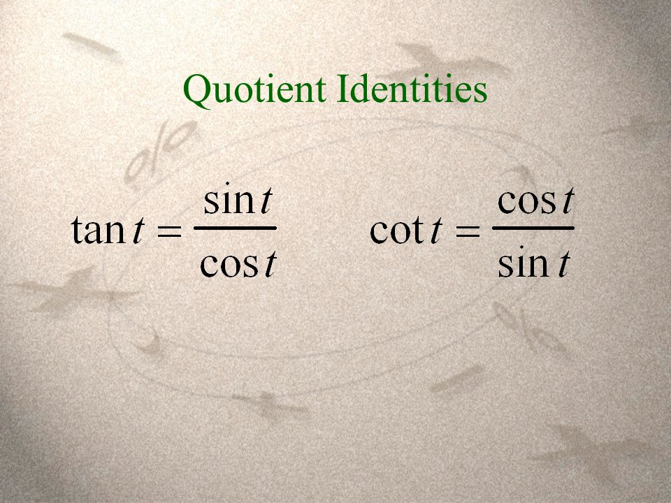 Quotient Identities