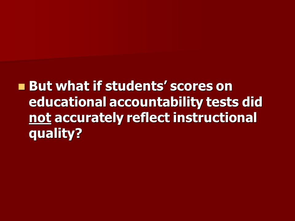 A DEFINITION OF INSTRUCTIONAL SENSITIVITY A DEFINITION OF INSTRUCTIONAL SENSITIVITY The degree to which students' performances on a test accurately reflect the quality of instruction specifically provided to promote students' mastery of what is being assessed.