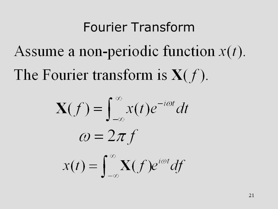21 Fourier Transform