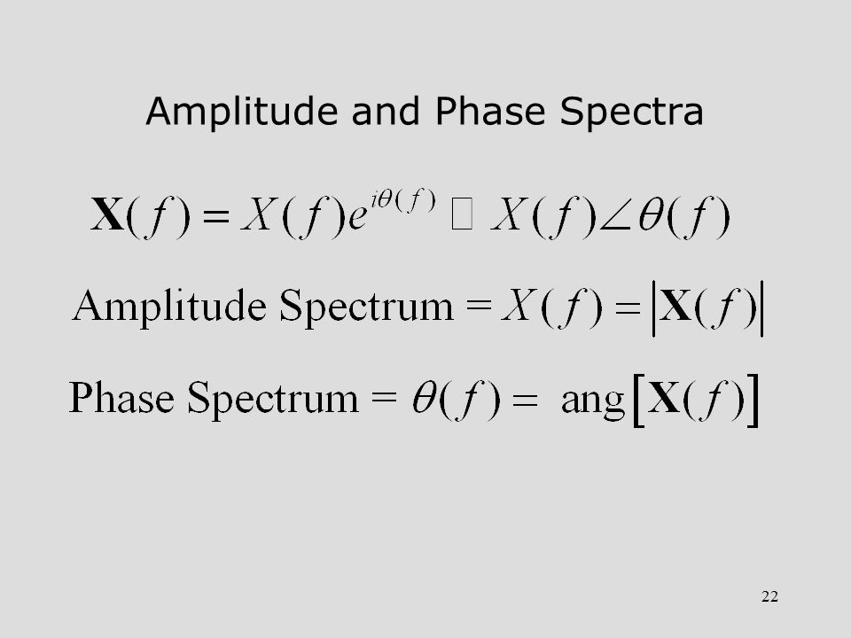 22 Amplitude and Phase Spectra