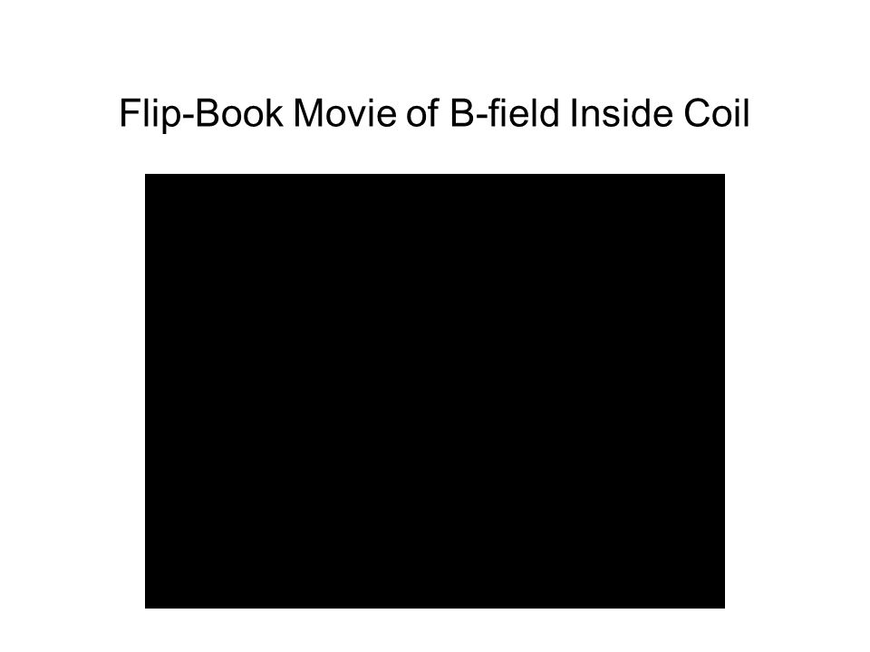 Flip-Book Movie of B-field Inside Coil