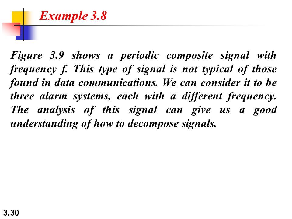 3.30 Figure 3.9 shows a periodic composite signal with frequency f.