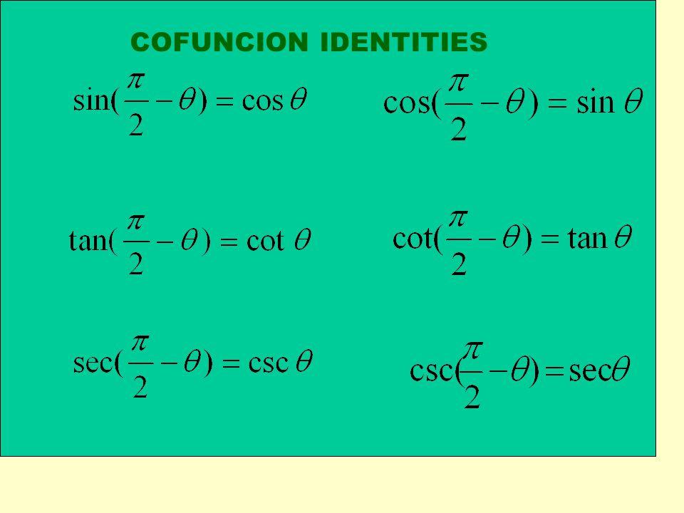 COFUNCION IDENTITIES