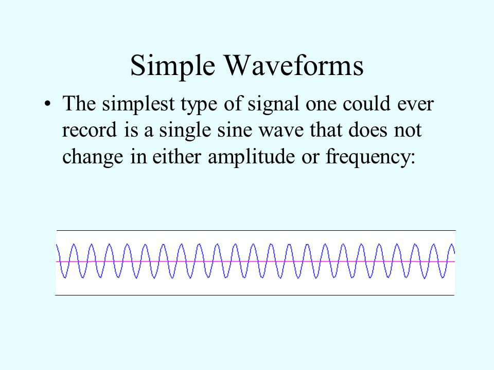Describing and Comparing Sounds A plot of pressure versus time is called the waveform of a sound. It is a description of a sound in the time domain. E