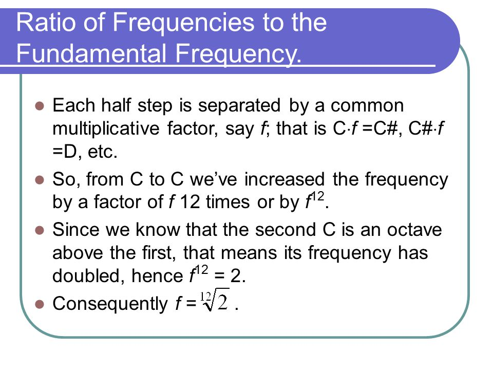 Ratio of Frequencies to the Fundamental Frequency.