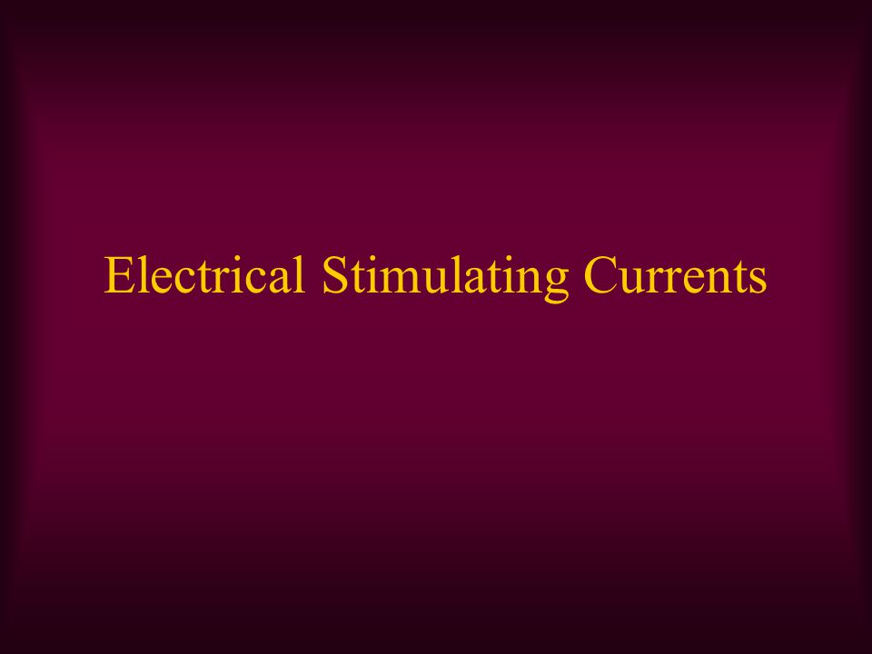 Physiologic Response To Electrical Current Creating muscle contraction through nerve or muscle stimulation Stimulating sensory nerves to help in treating pain Creating an electrical field in biologic tissues to stimulate or alter the healing process
