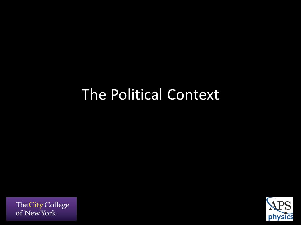 The Political Context
