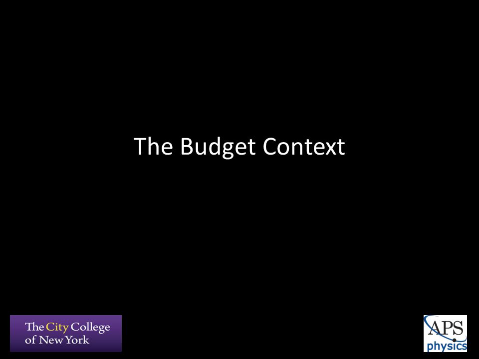The Budget Context