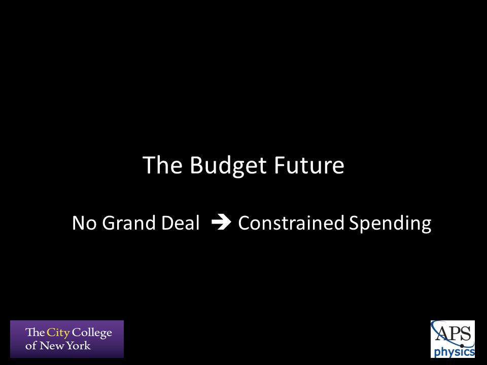 The Budget Future No Grand Deal  Constrained Spending