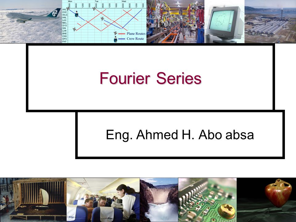Slide number 12 Example – Fourier series Example – Find the coefficients for the Fourier series of: Fundamental range Period = 2 π