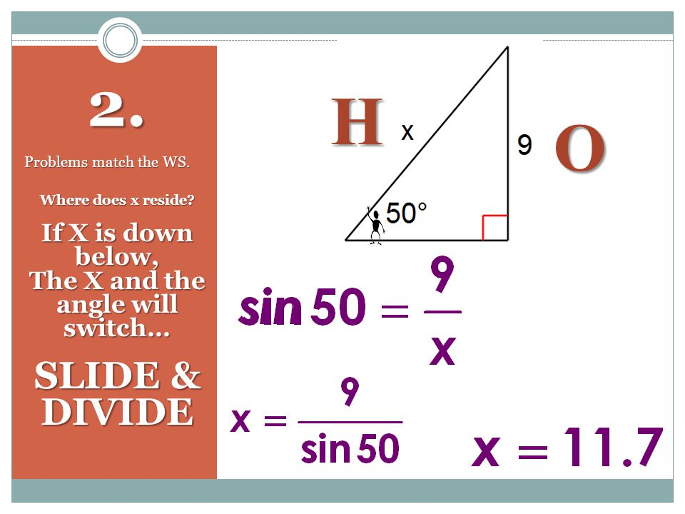 2. Problems match the WS. H O Where does x reside.