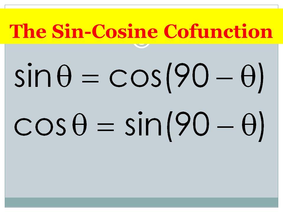 The Sin-Cosine Cofunction
