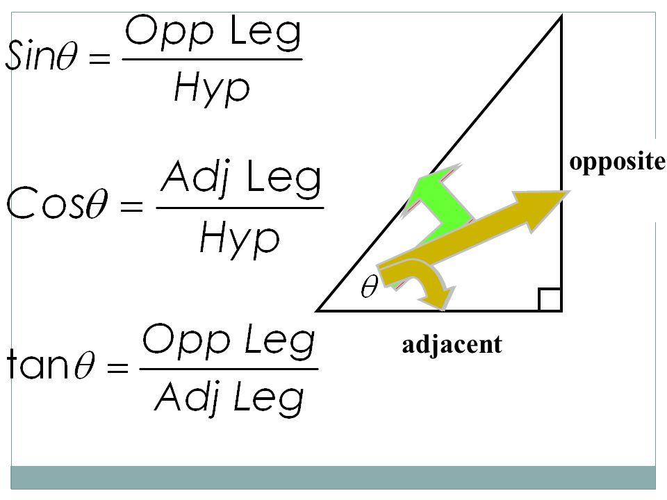 opposite hypotenuse adjacent hypotenuse opposite adjacent
