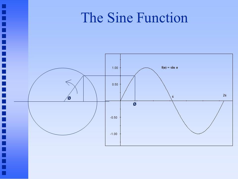 The Sine Function ø ø