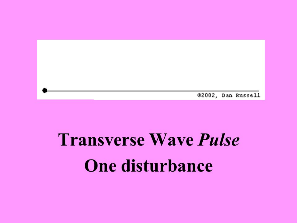 Transverse Wave Pulse One disturbance