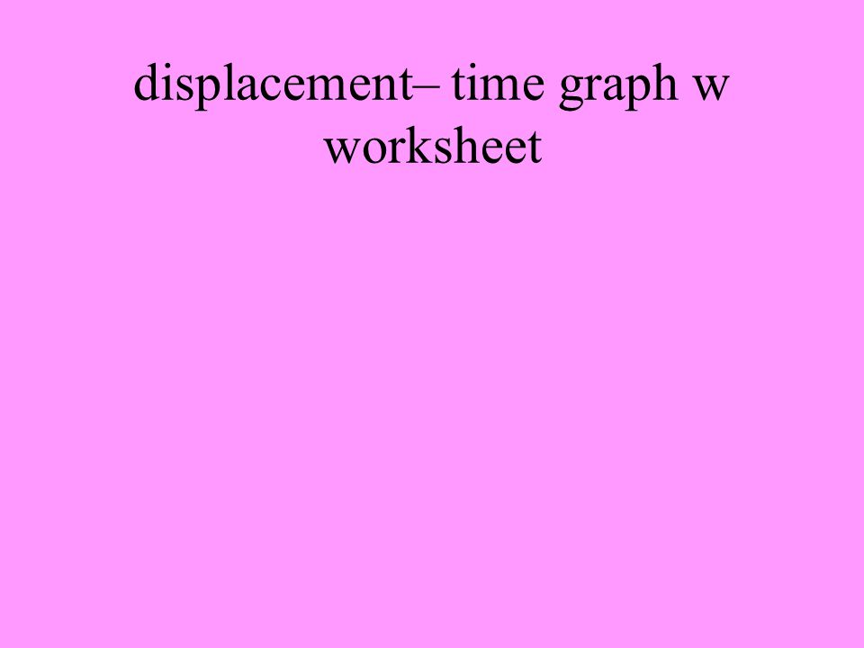 displacement– time graph w worksheet