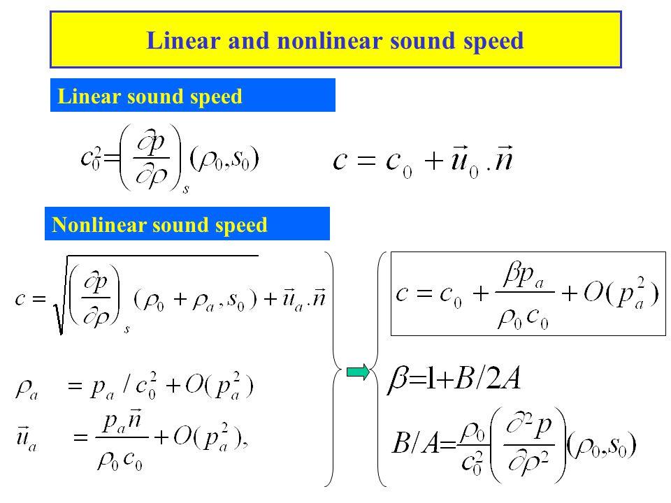 Nonlinear distorsion of the wave profile