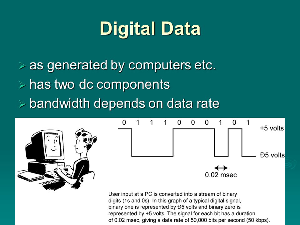 Digital Data  as generated by computers etc.