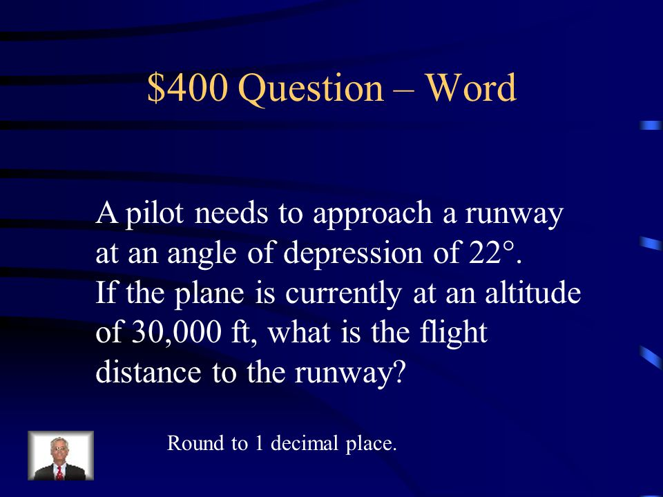 $300 Answer – Word 18.3 ft.