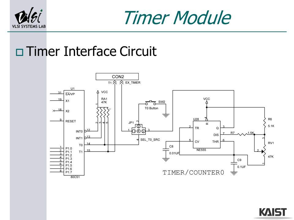 Timer Module o Timer Interface Circuit