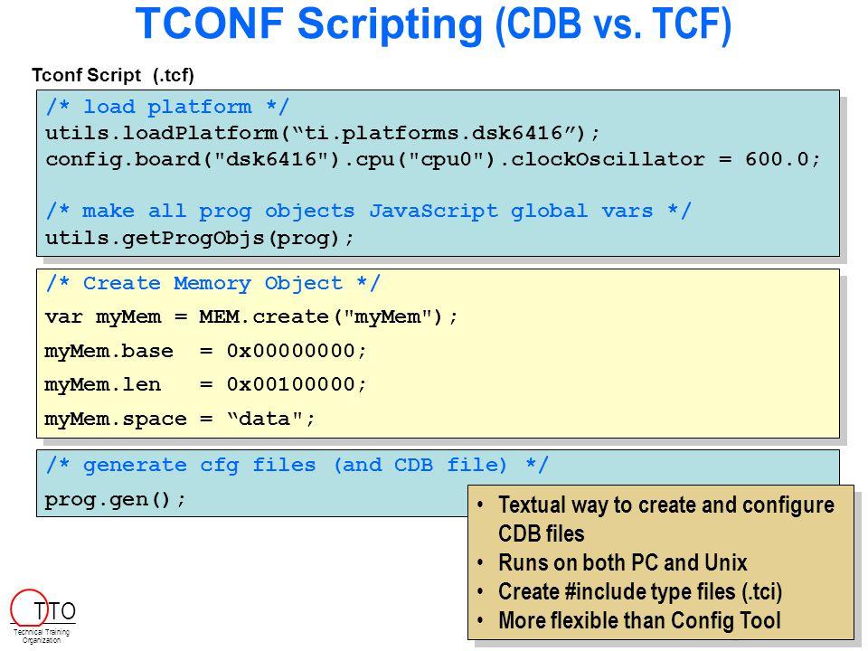 TCONF Scripting (CDB vs.