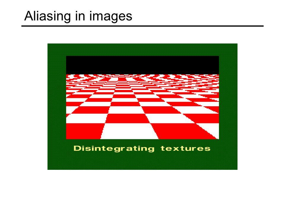 Aliasing in images