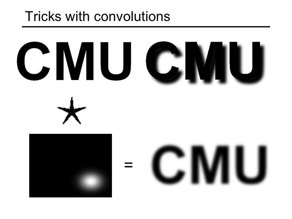 Tricks with convolutions =