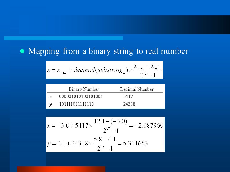 Mapping from a binary string to real number