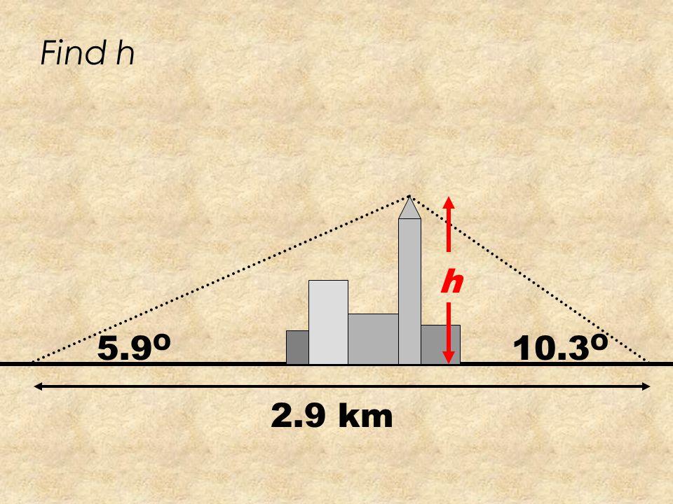 Find the length of a a A C c 24 73 o 57 o N a Sin73 o =24 Sin57 o a = 27.4